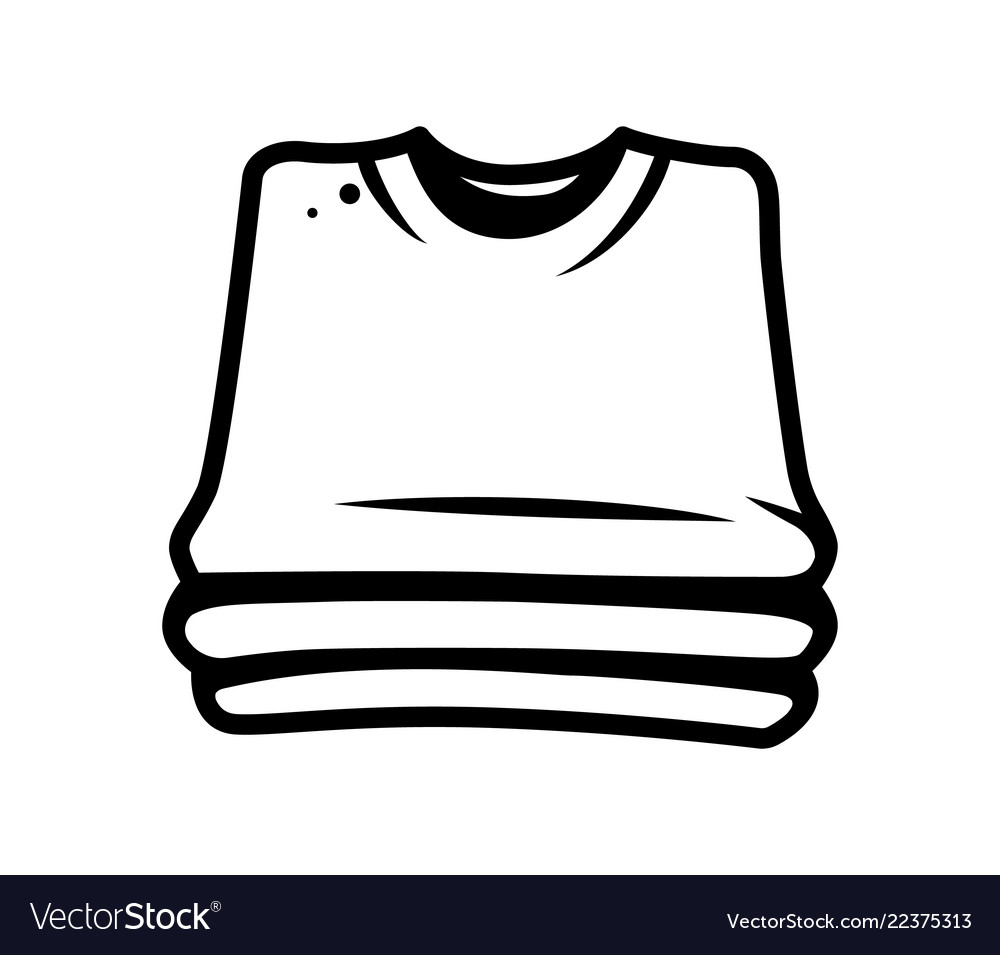 Monochrome stack of shirts concept