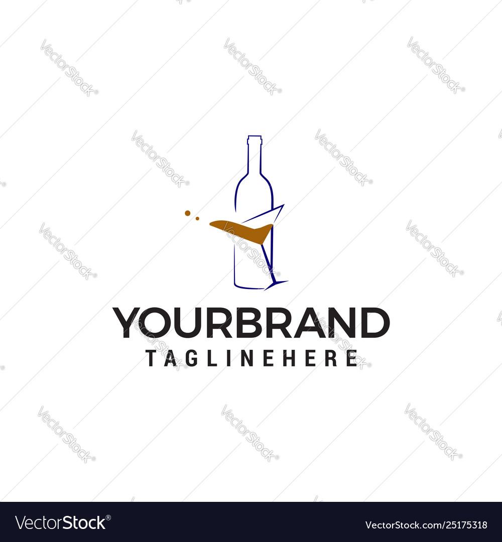 Bottle beer logo design concept template
