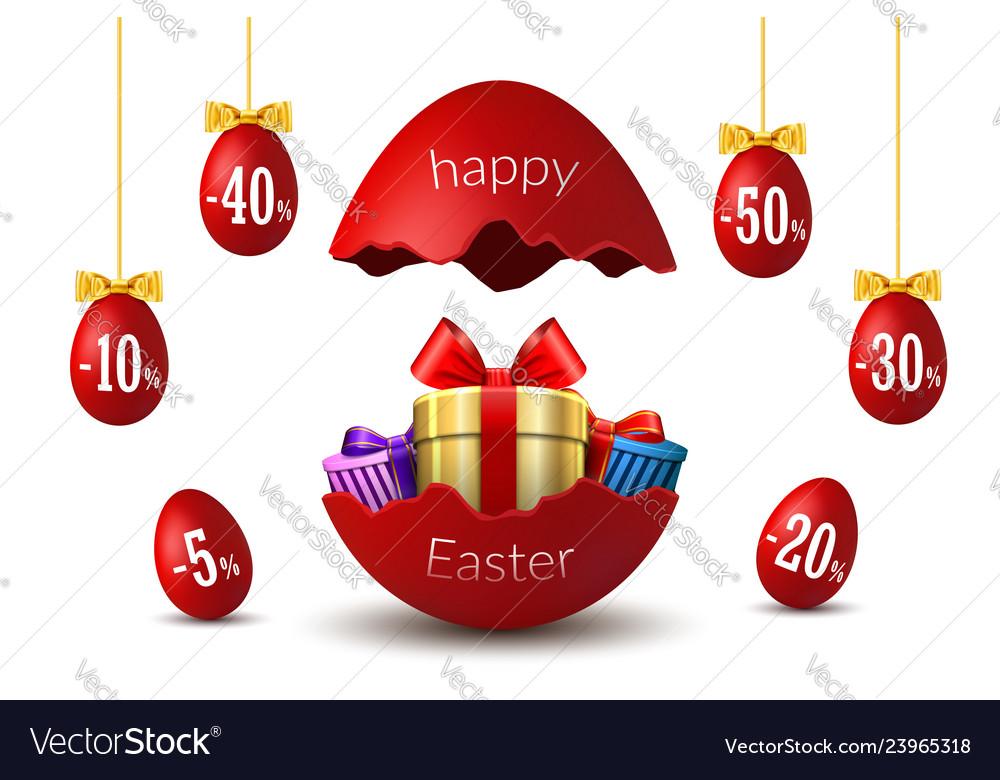 Easter eggs sale broken happy easter egg 3d