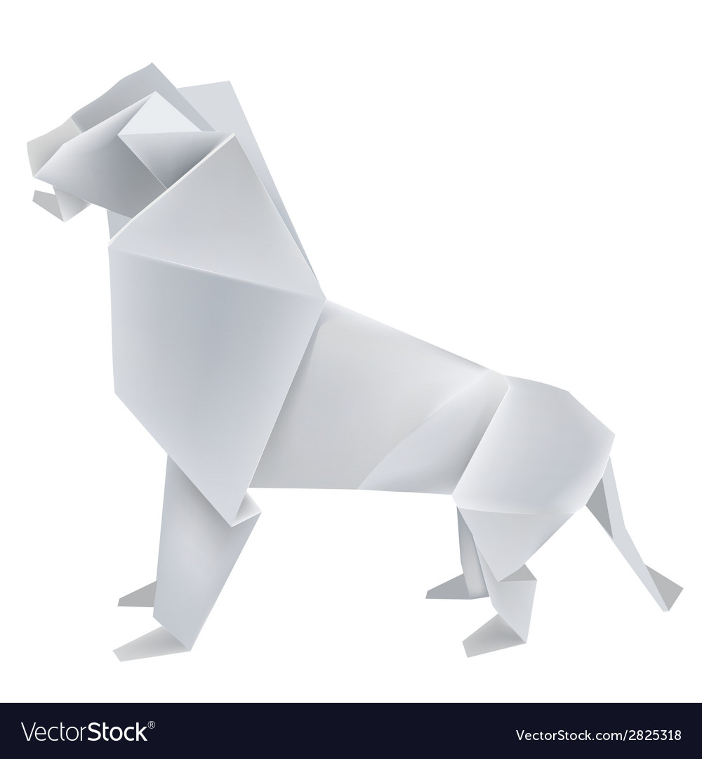 Origami Lion Vector Image
