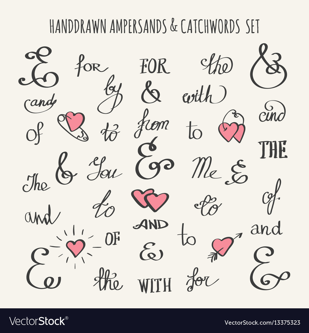 Ampersands and catchwords set