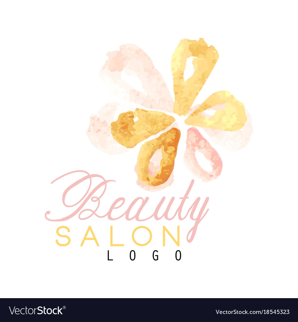 Beauty salon original logo design with delicate