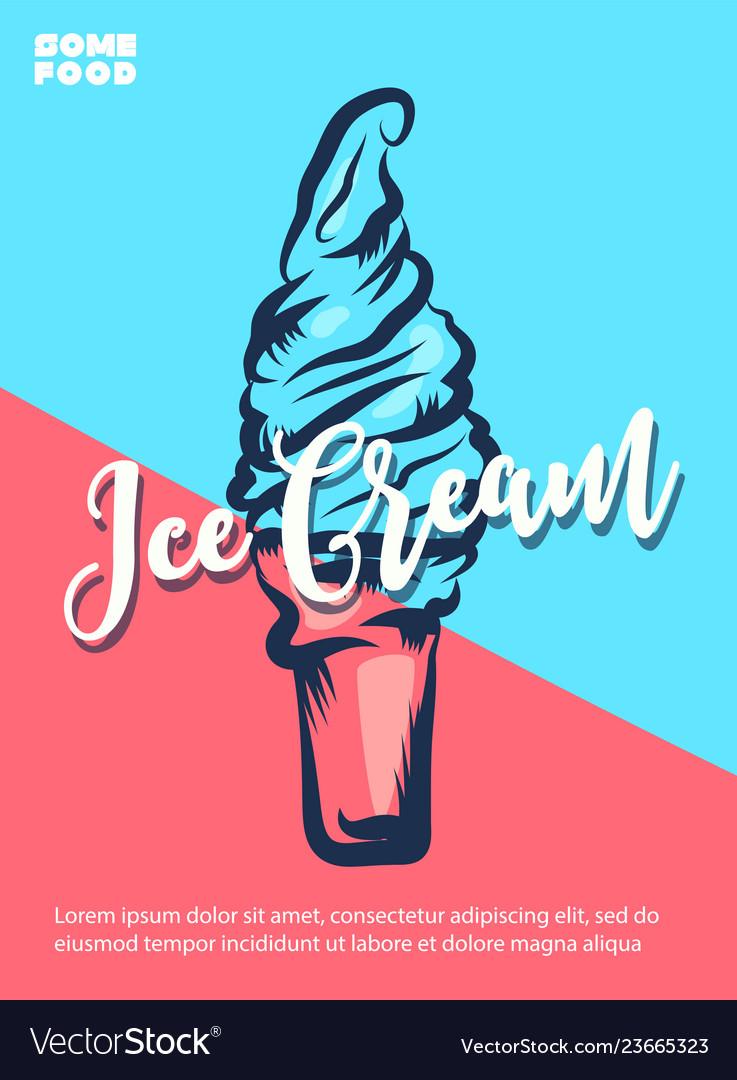 Ice cream hand lettering custom typography