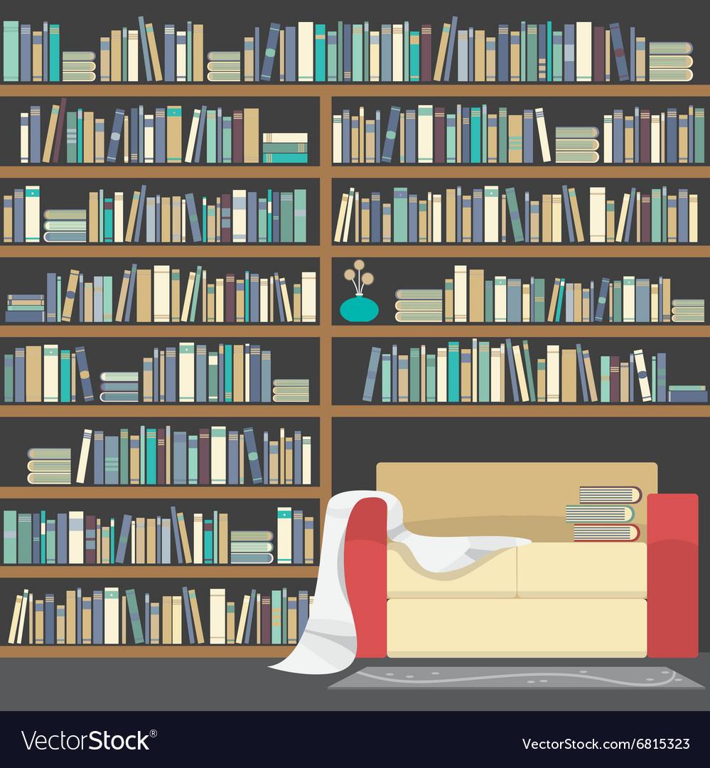 Modern Sofa With Huge Bookshelf