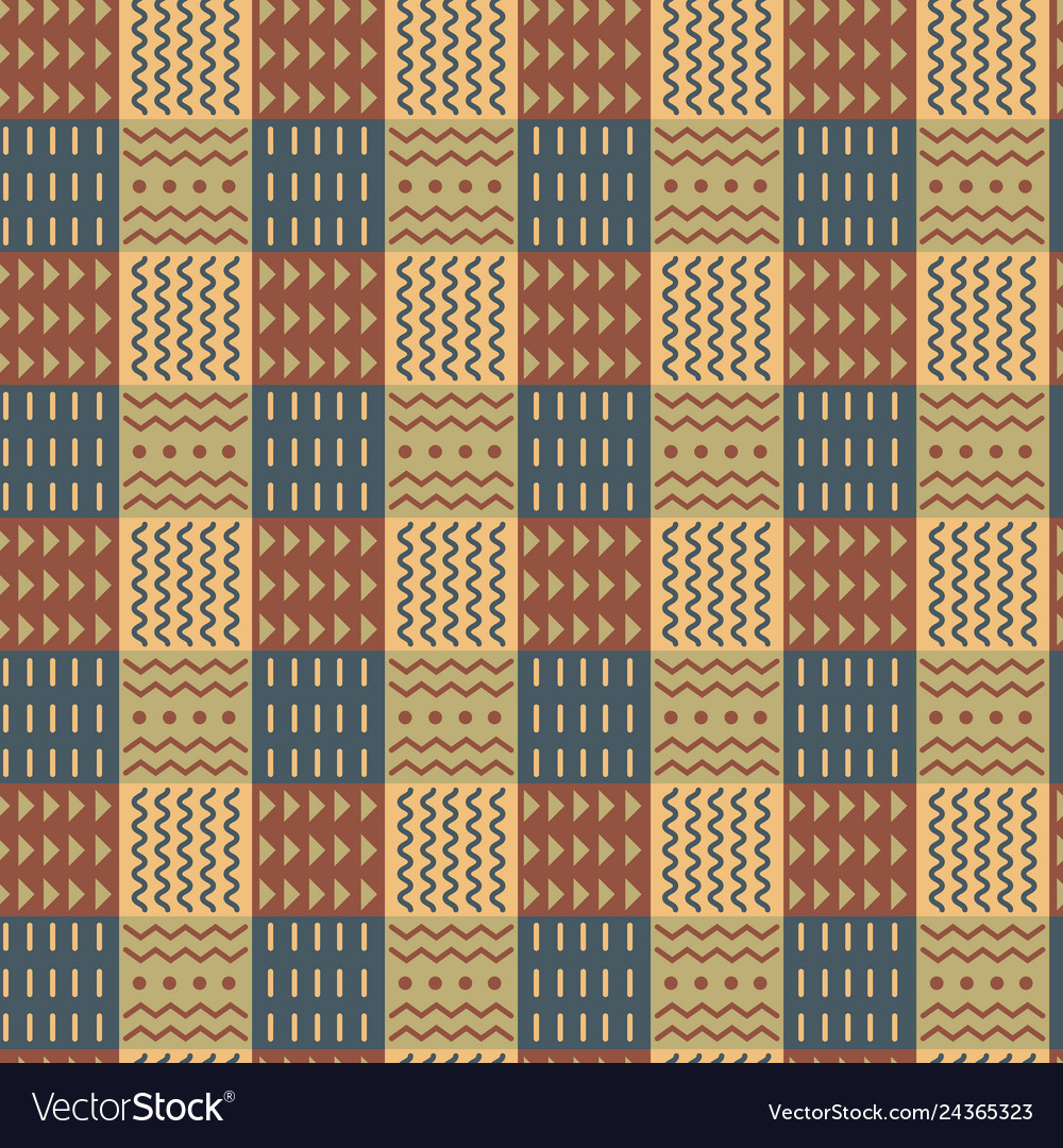 Ornamental checkered seamless pattern divided