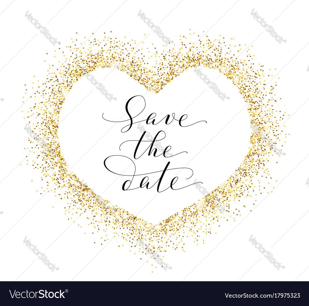 Save the date card hand written custom