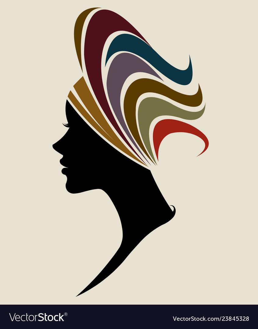 African women silhouette fashion models