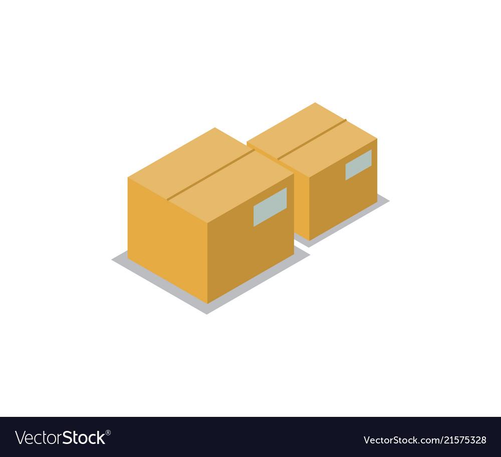 Boxes set production icons