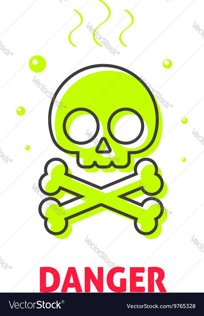 Chemical hazard caution sign waste danger safety
