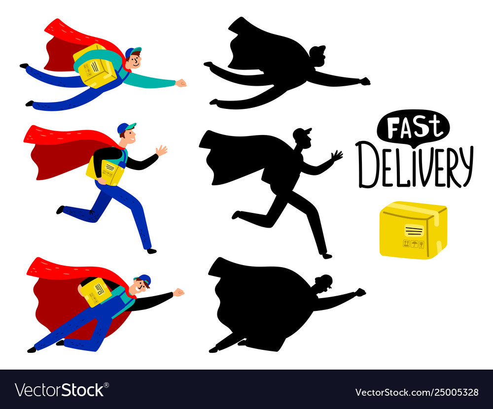 Fast delivery superhero boy