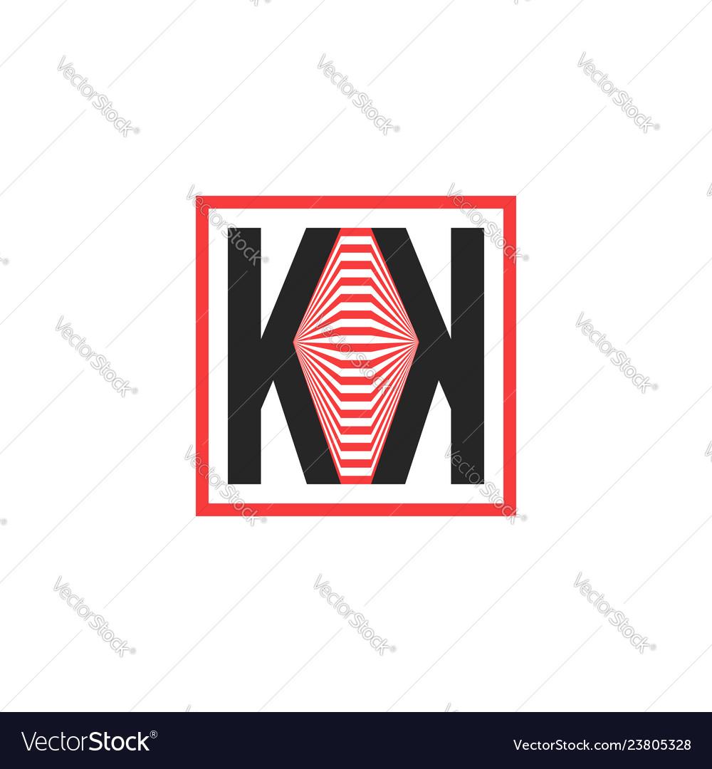 Geometric abstract double k logo