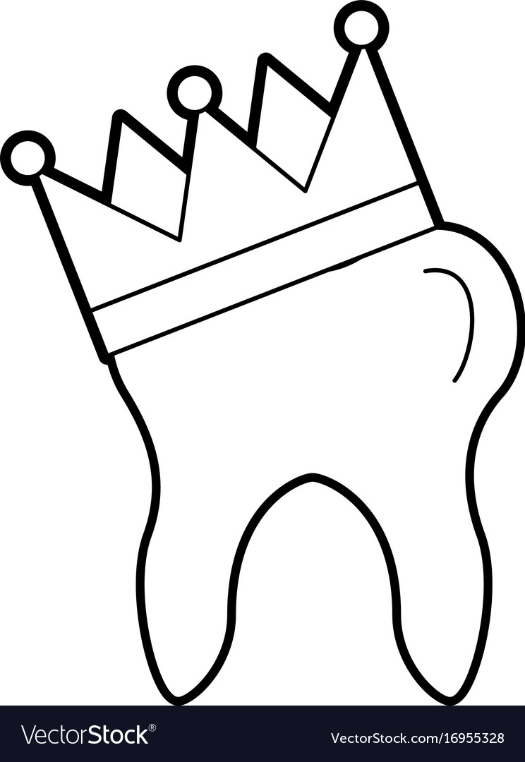 Human tooth with crown