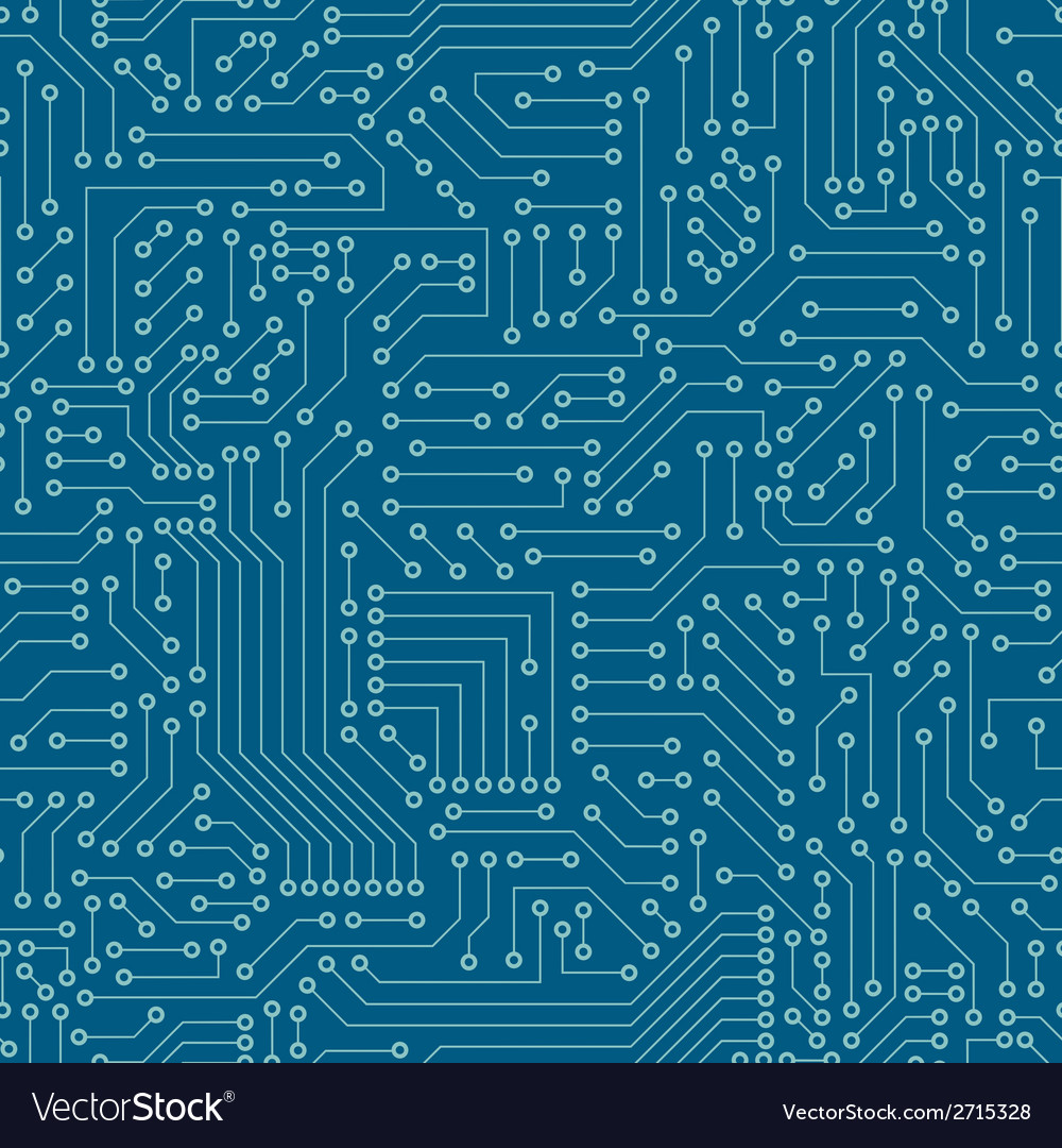 Seamless pattern Computer circuit board Royalty Free Vector