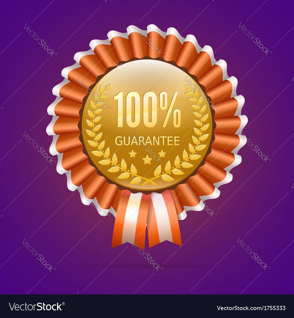 Badge 100 guarantee