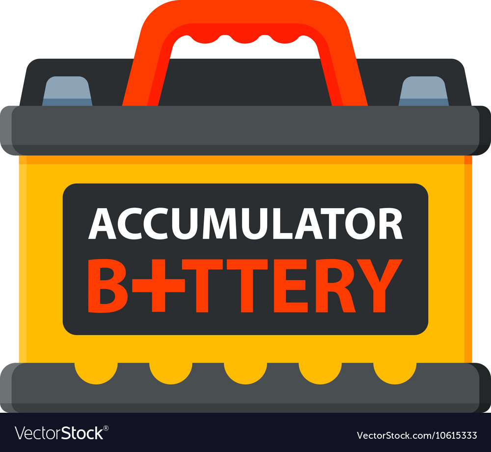 Battery accumulato isolated