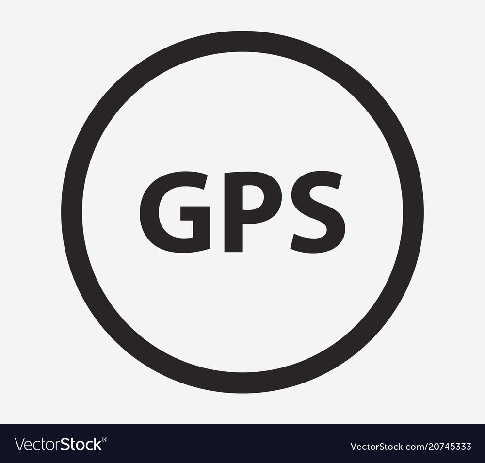 gps icon royalty free vector image vectorstock