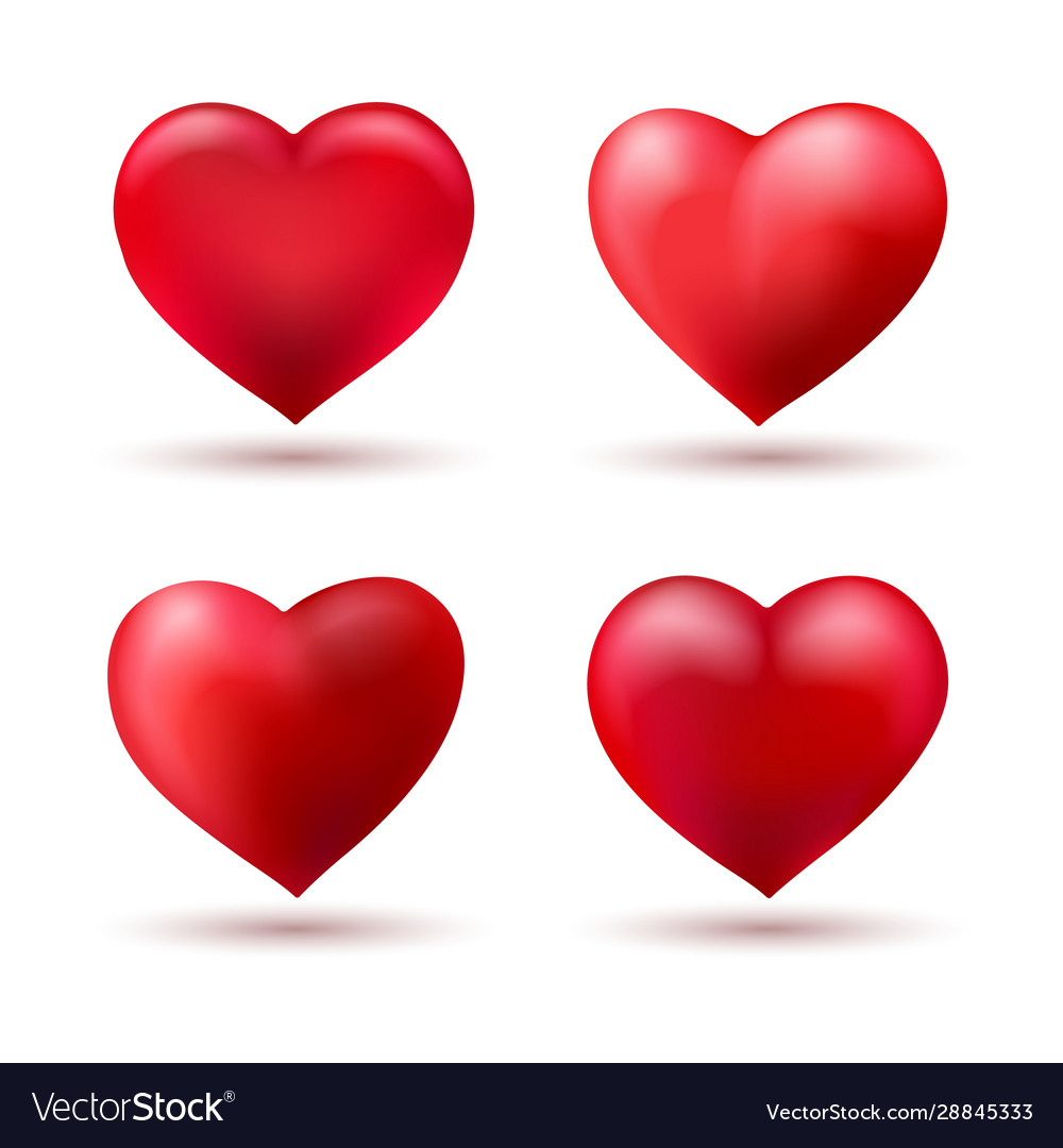 Heart shape love balloons