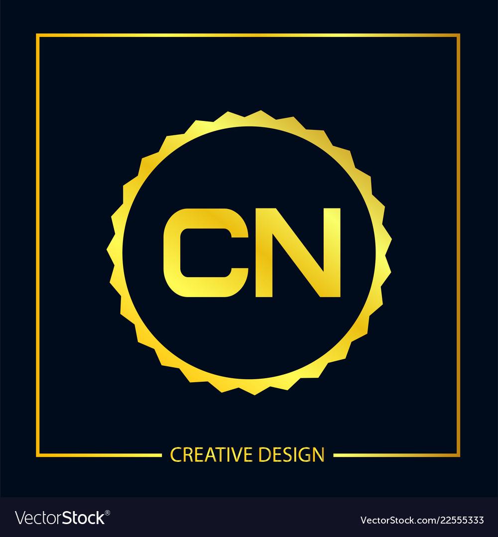 Initial letter cn logo template design