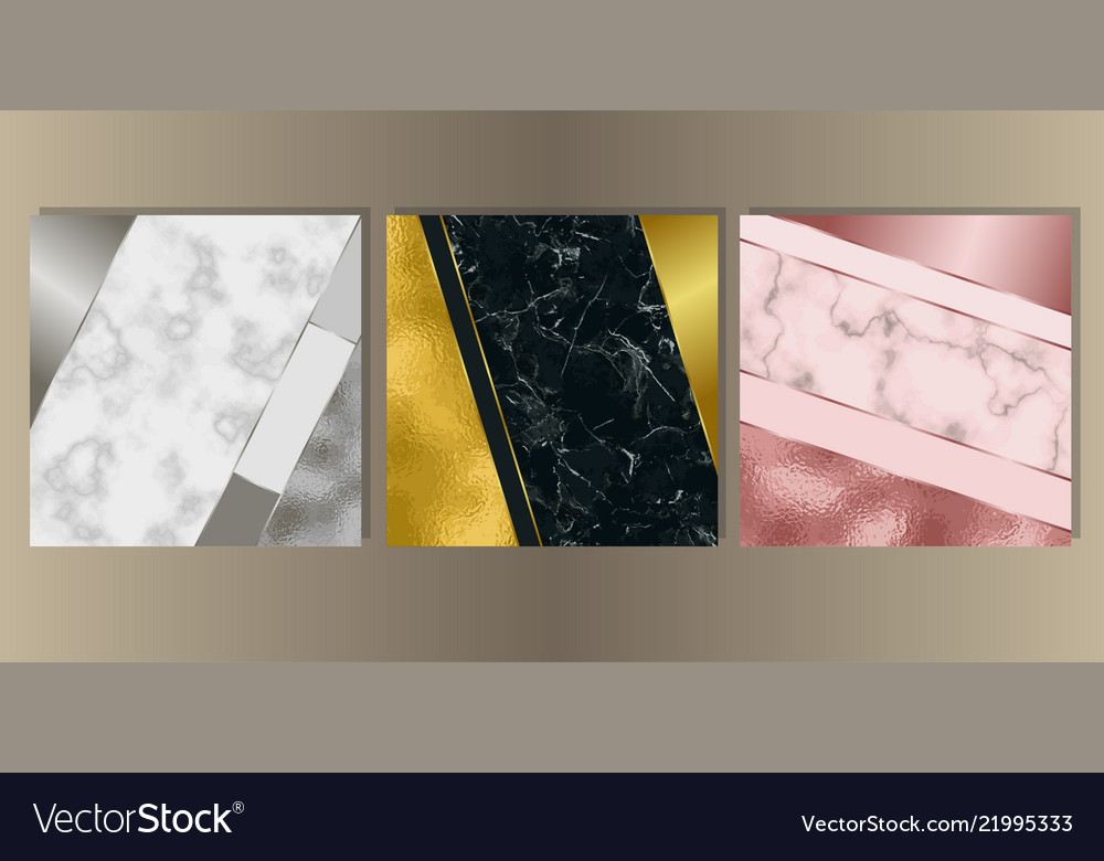 Luxury marble cover set with geometric elements
