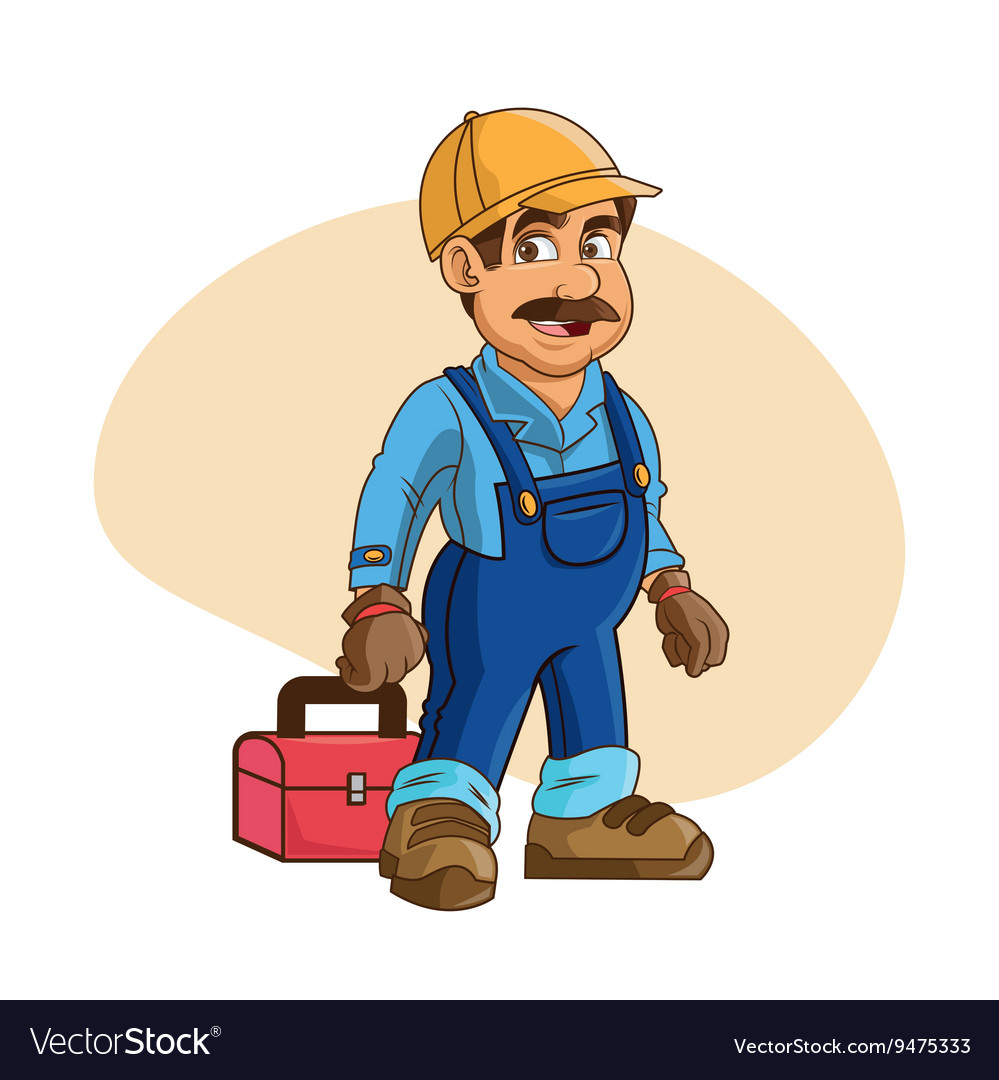 plumbing service plumber cartoon design royalty free vector