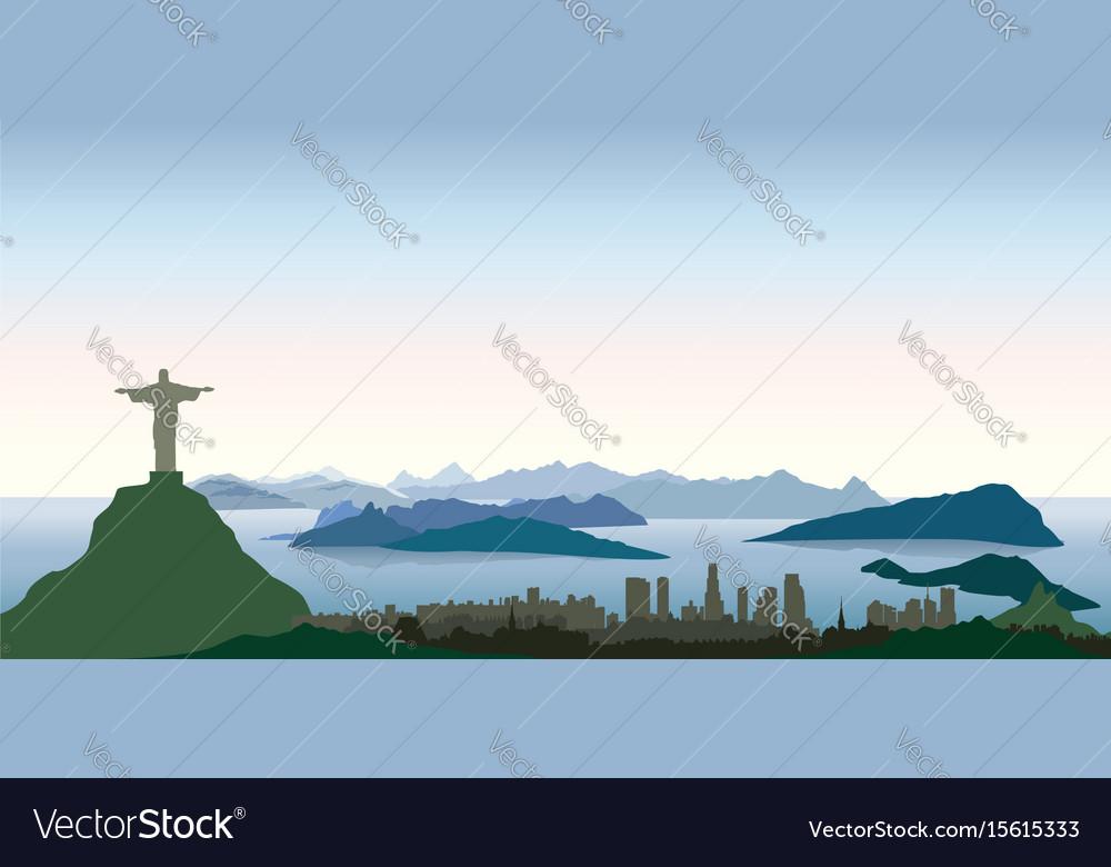Rio de janeiro city skyline travel background