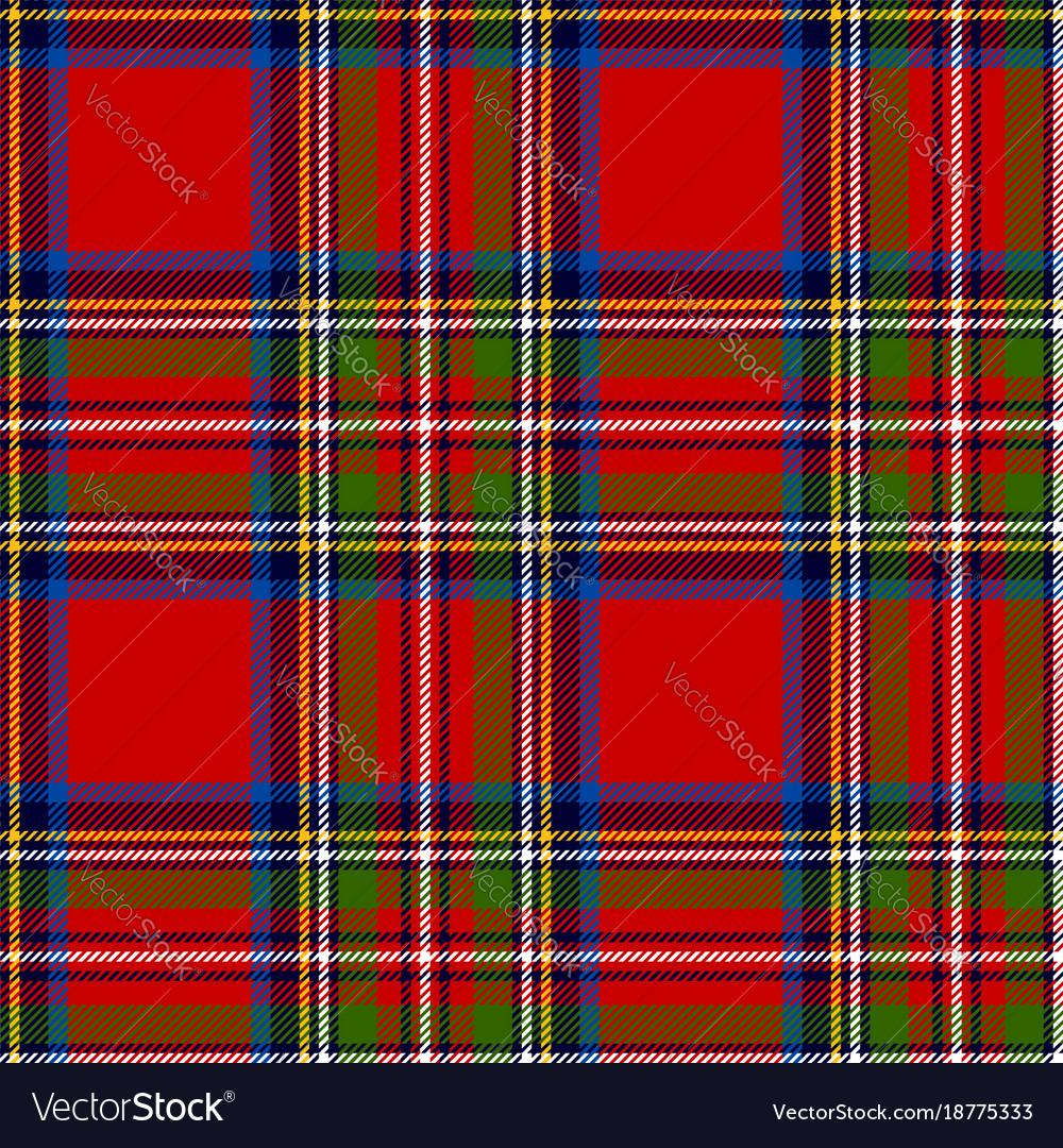 Scottish plaid royal stewart tartan
