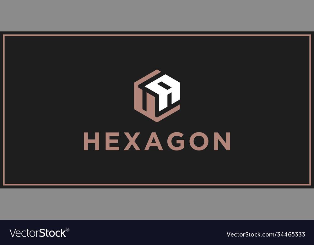 Ua hexagon logo design inspiration