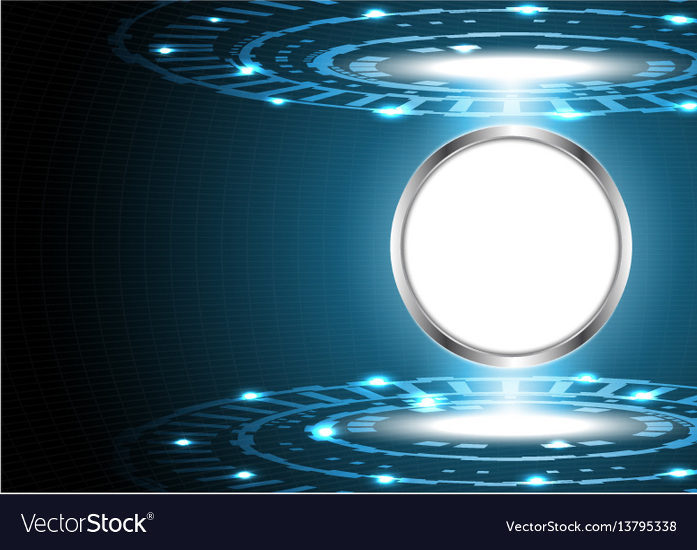 Abstract technology digital circle with board vector image