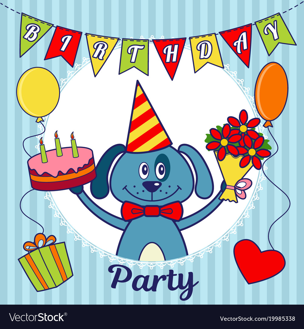 Birthday party invitation card or greeting card a