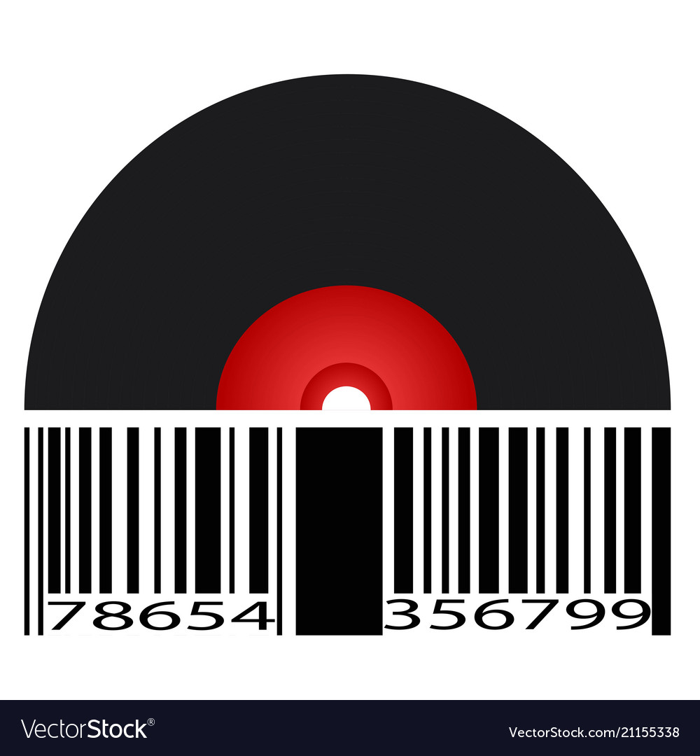 Black record barcode