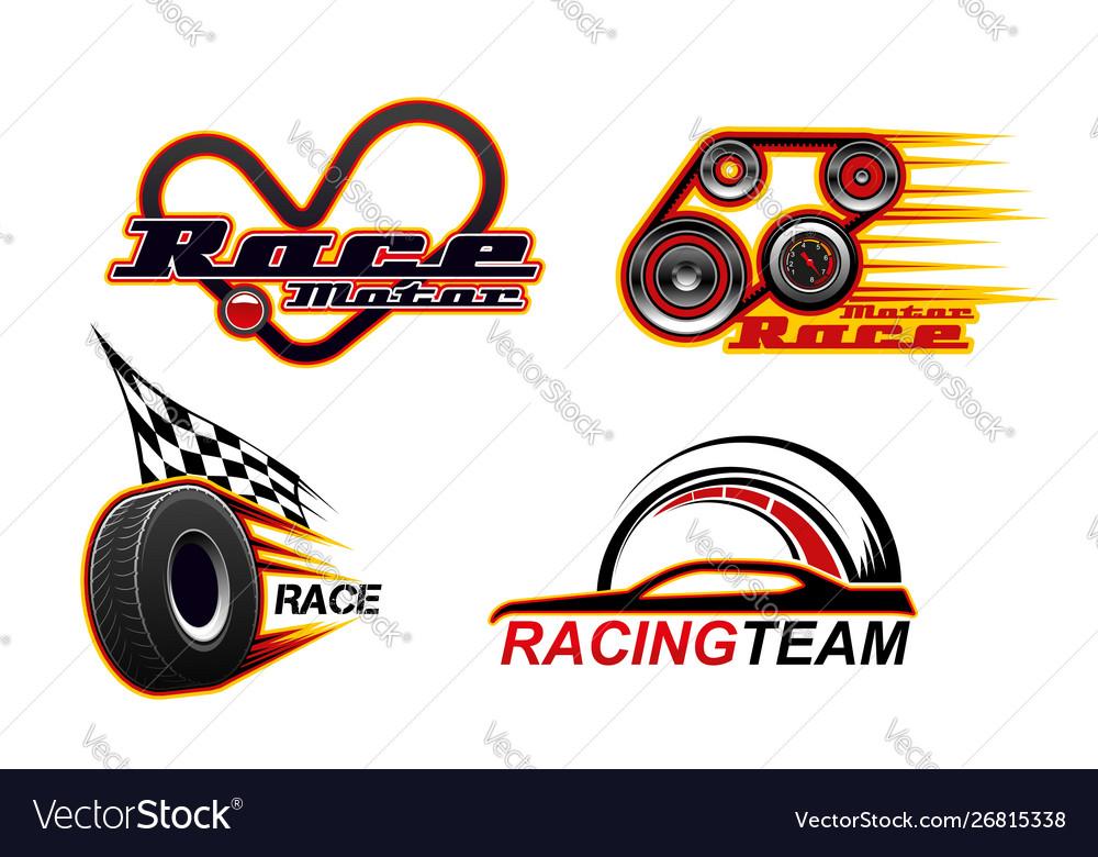Car races motor speed drag racing speed icons