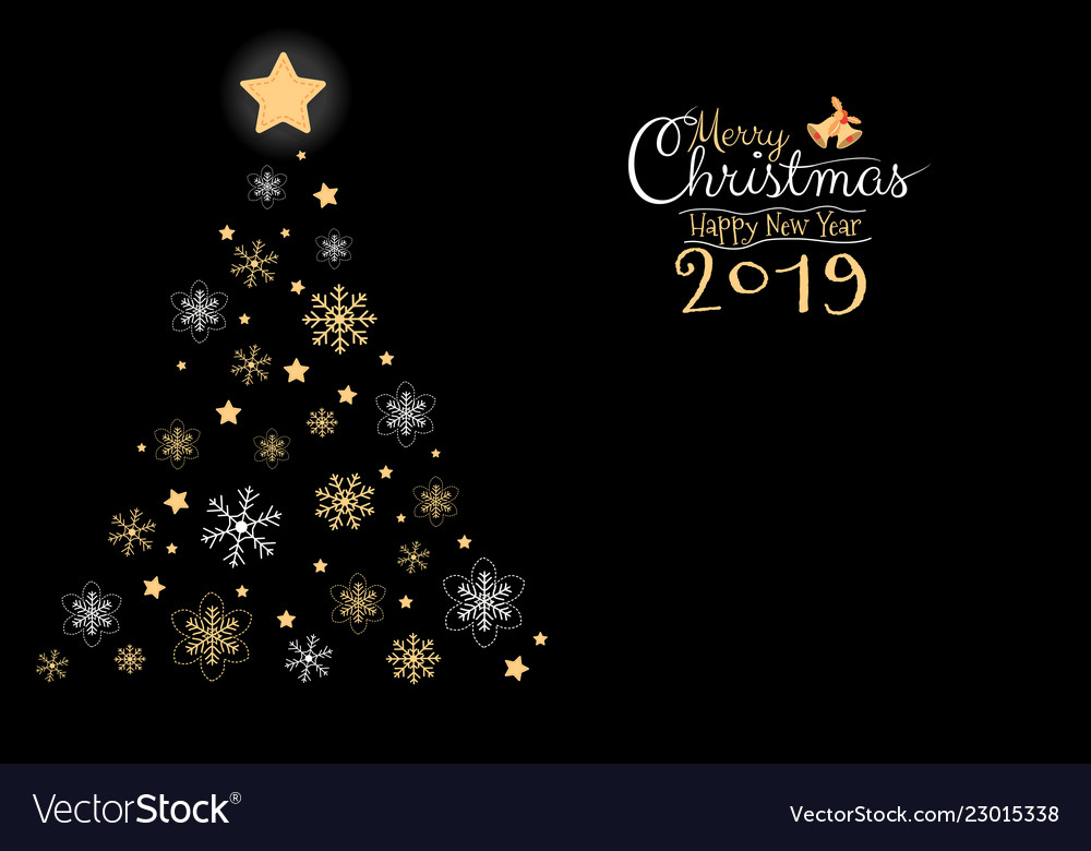 Merry Christmas 2019.Merry Christmas And Happy New Year 2019 Greeting