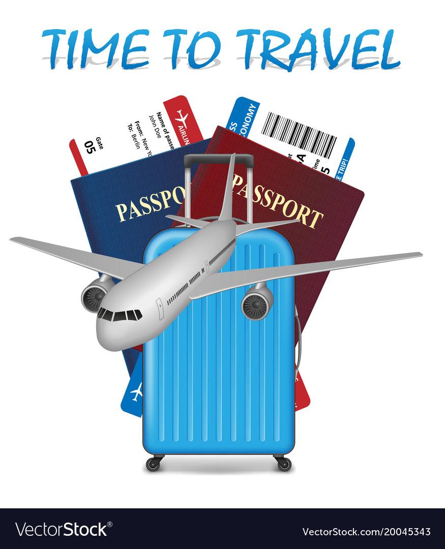 Air travel international vacation concept