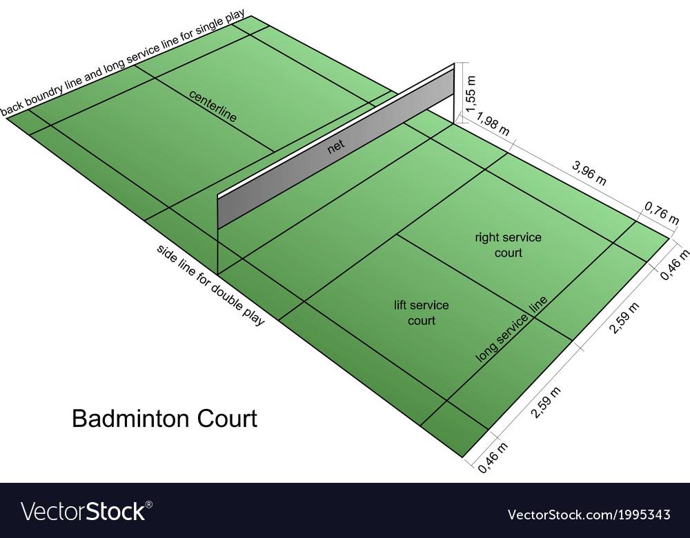 Badminton court vector image