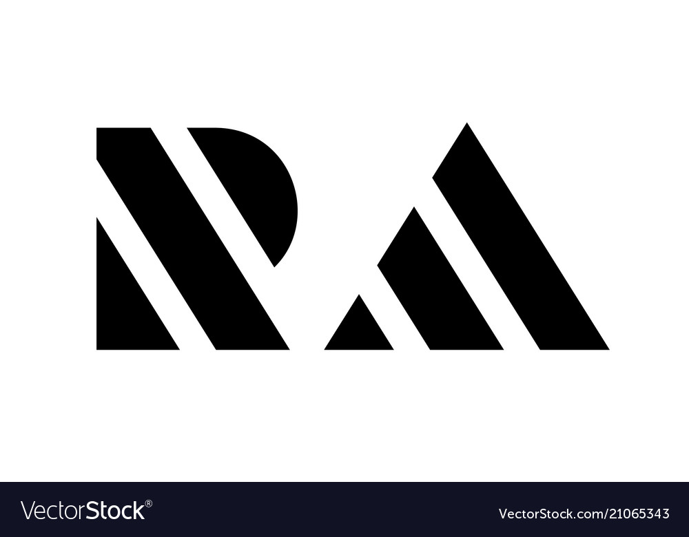 letter r and a logo stripe template simple style vector image