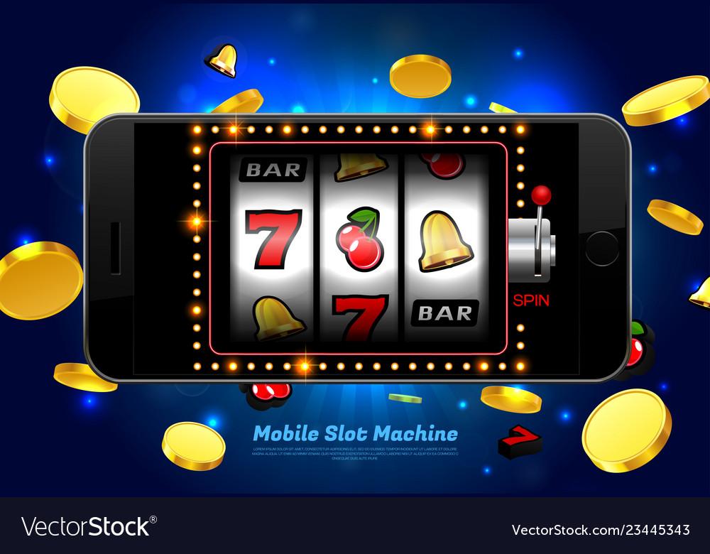 Lucky slot machine casino on mobile phone