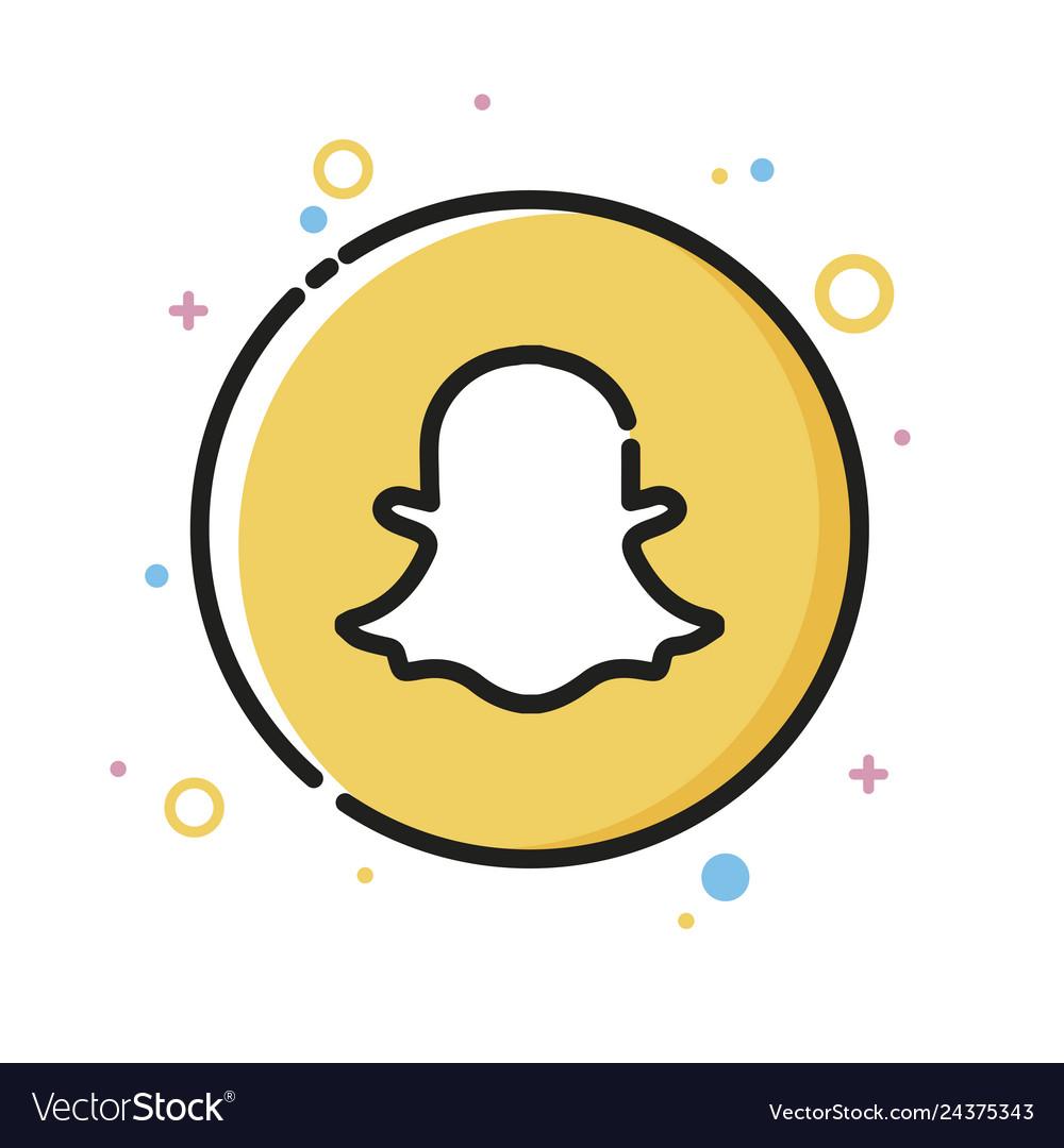 Social media network cute ghost icon design