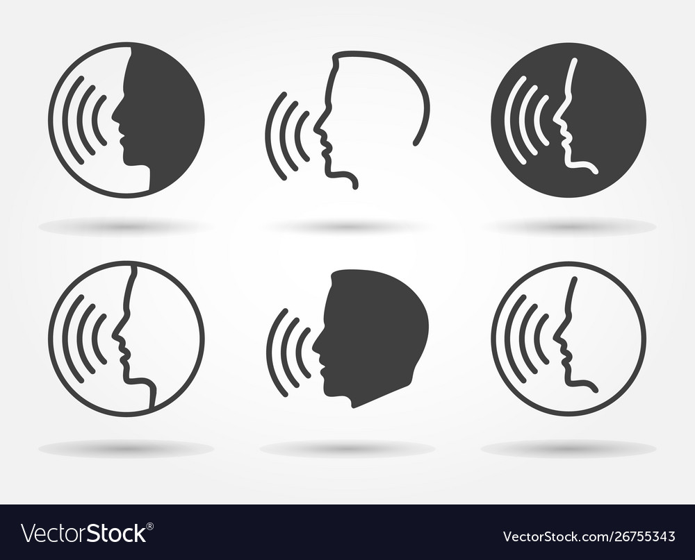 Speaking icons set