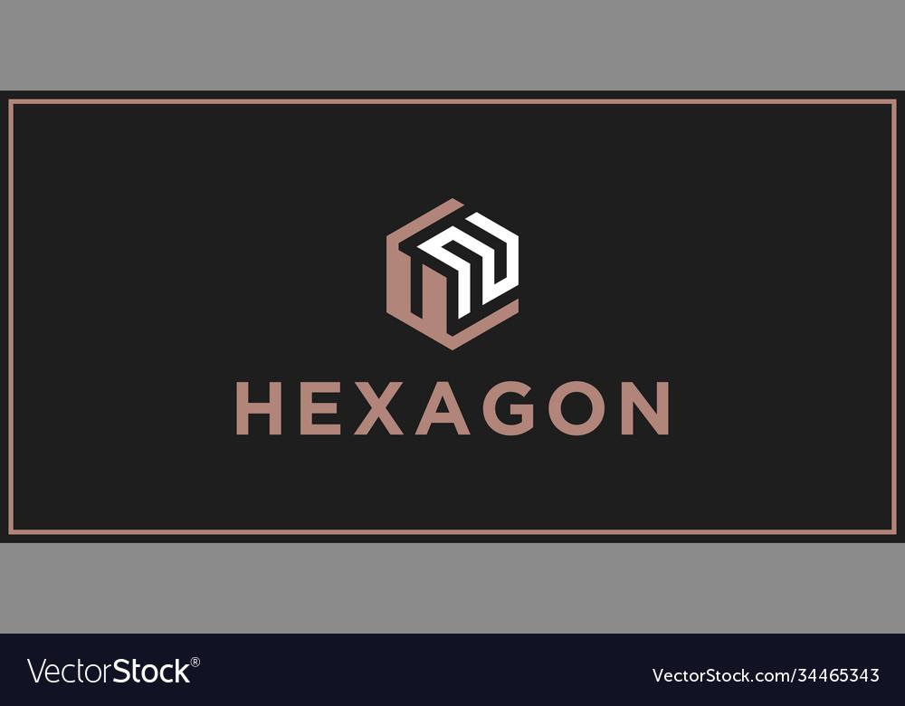 Un hexagon logo design inspiration