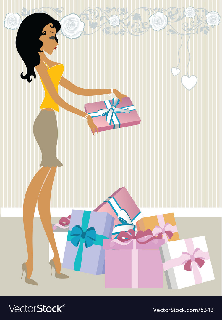 Valentine's gifts vector image