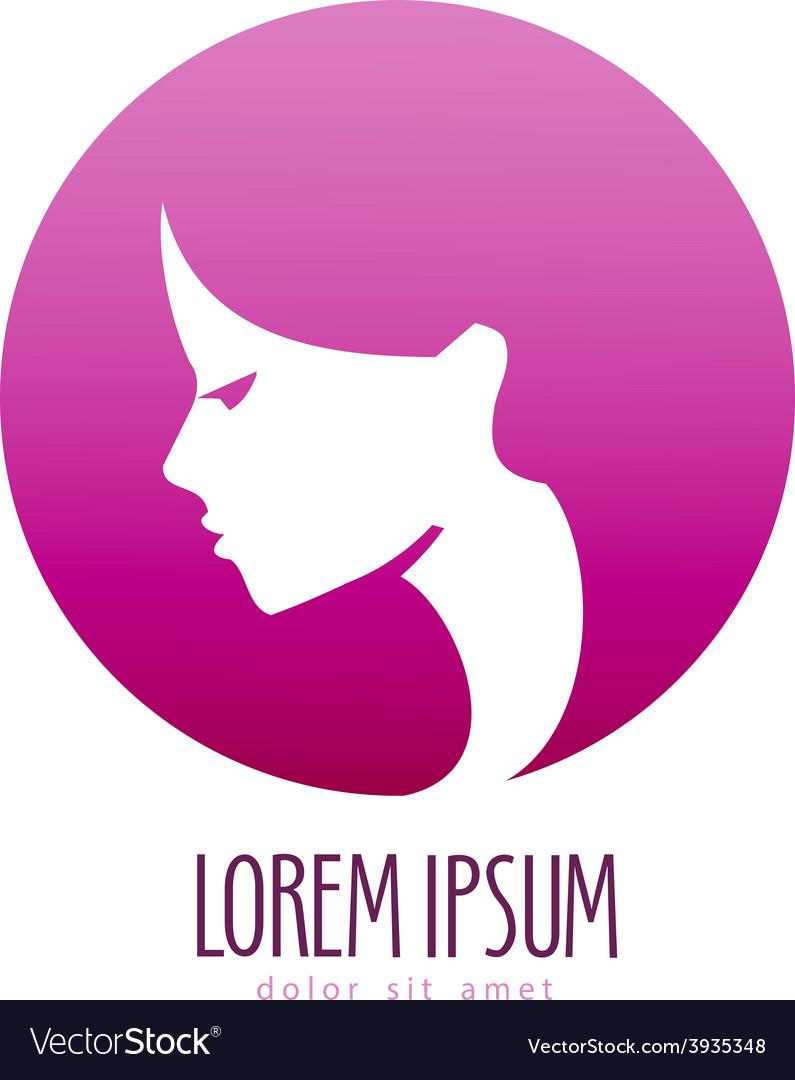 Beauty salon logo design template vector image