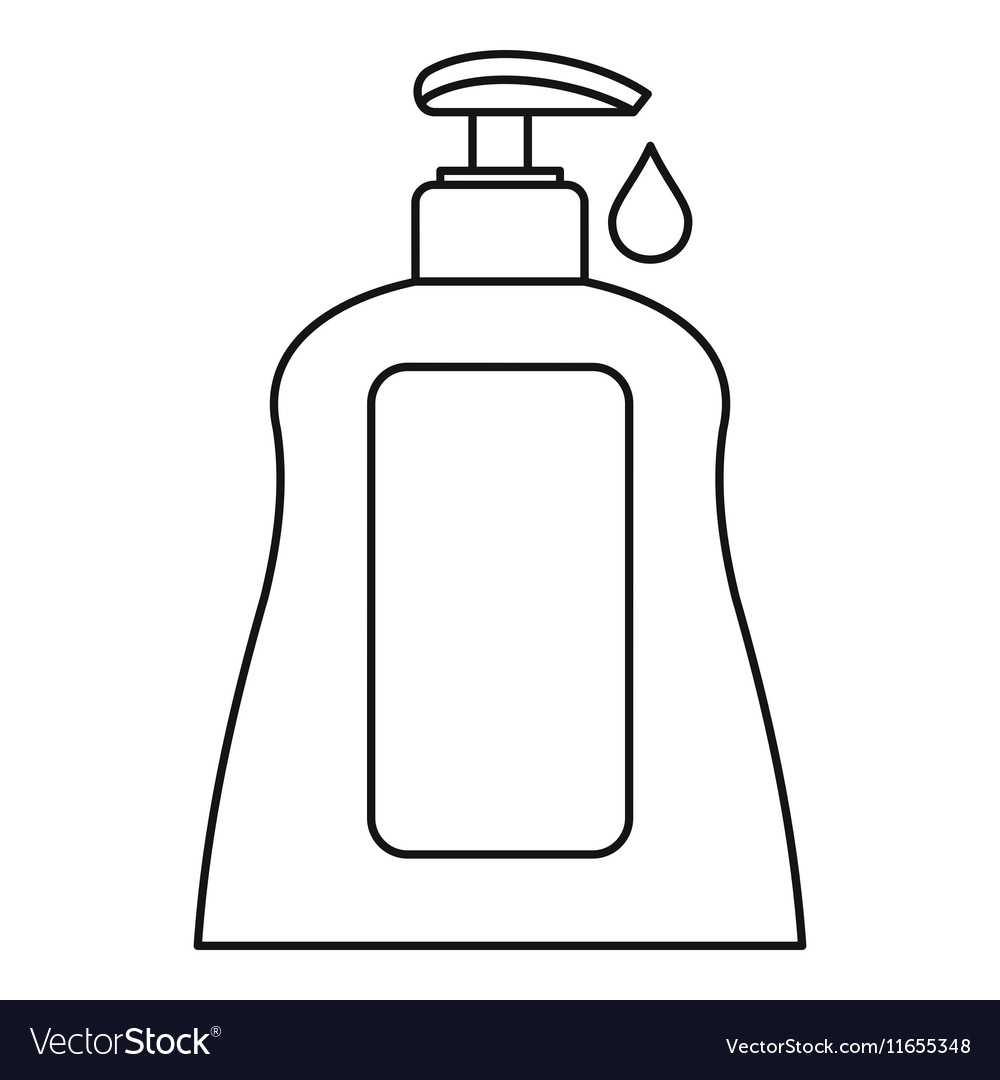Body care lotion icon outline style