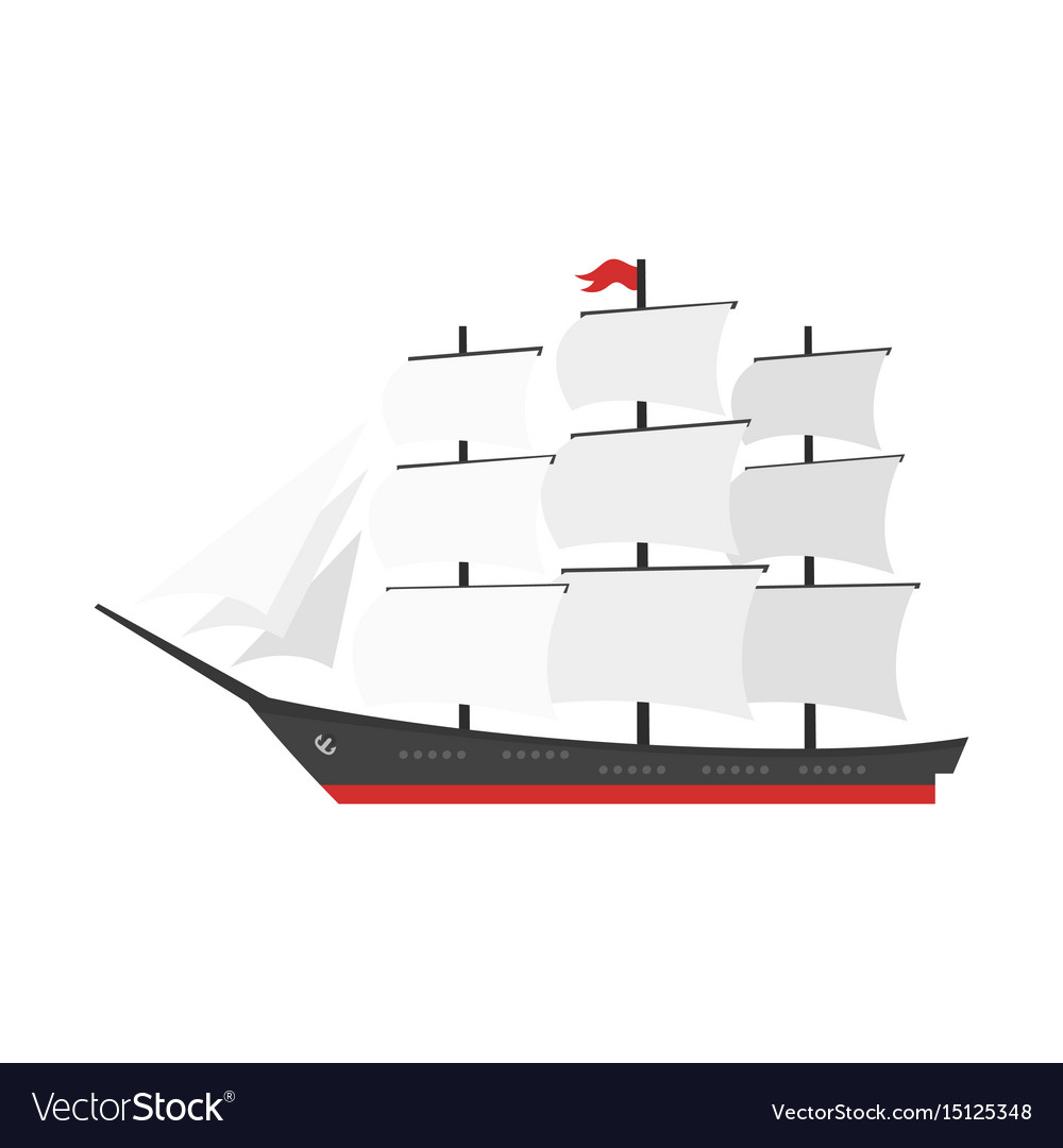 Cartoon style ship