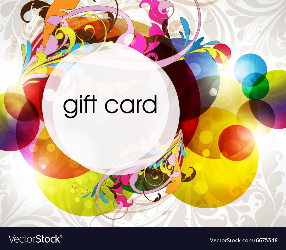 Funky Gift Card Design vector image