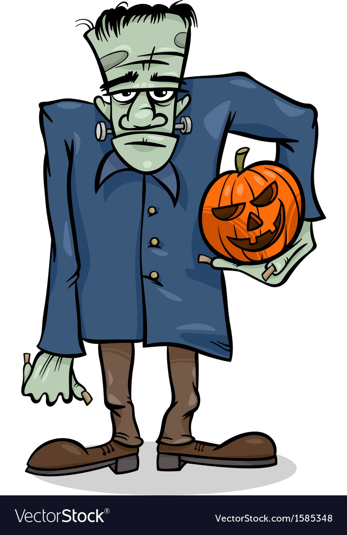 Halloween frankenstein cartoon
