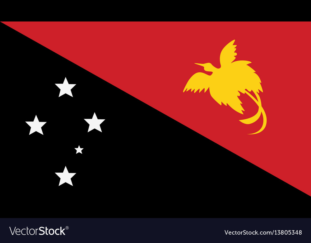Papua new guinea flag for independence day and