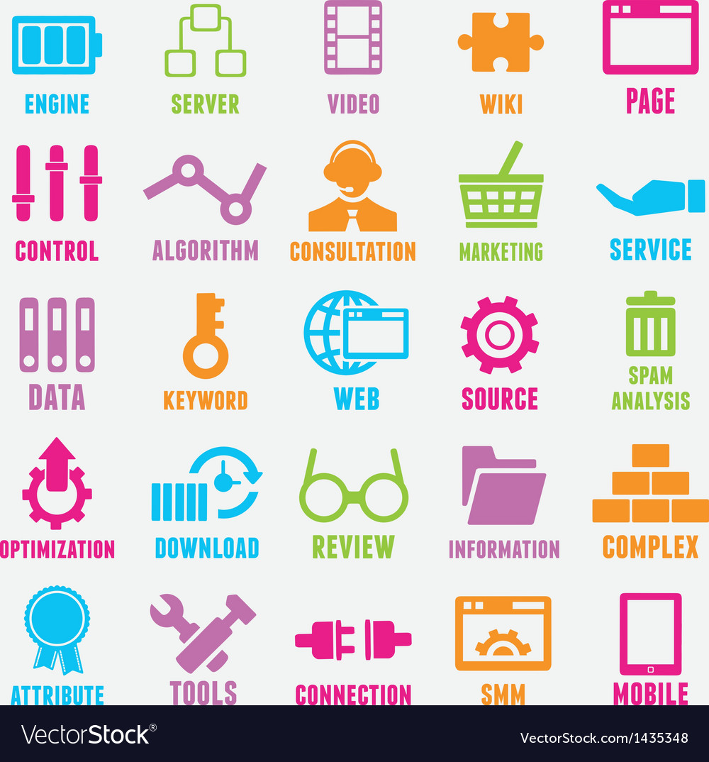 Set of seo and internet service icons - part 2