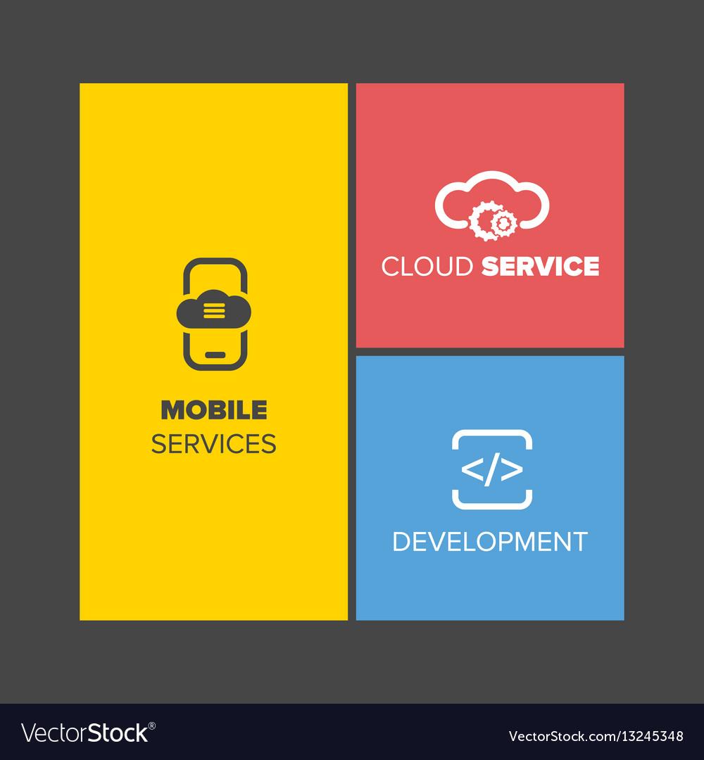 Web design menu vector image