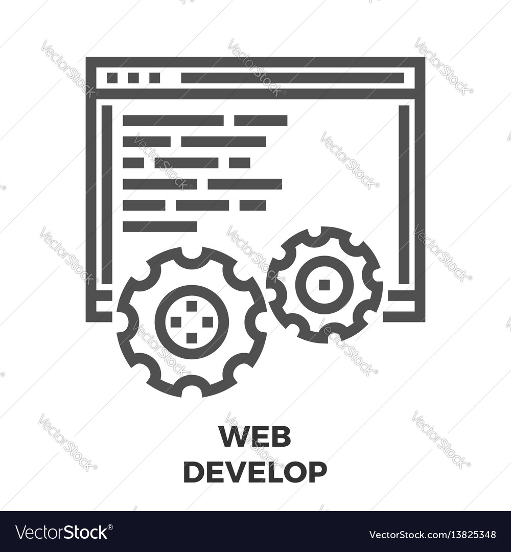 Web develop line icon
