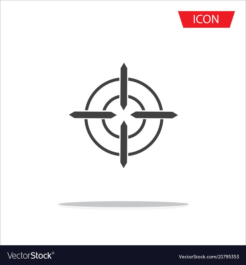 Aim icon target symbols isolated on white